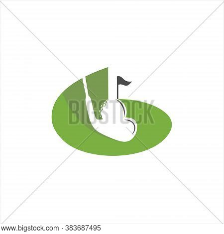 Golf Logo Fun Sport Illustration Green Design Template Inspiration