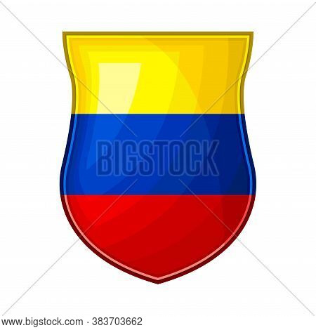 Metal Ecuador Badge With National Colors Vector Illustration
