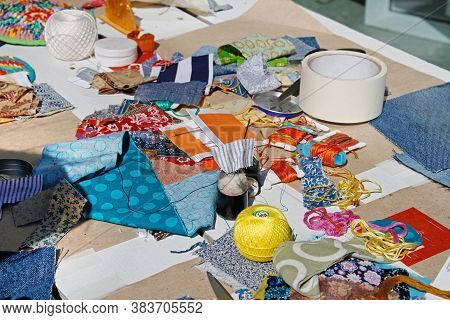 Materials For A Master Class On Patchwork Art