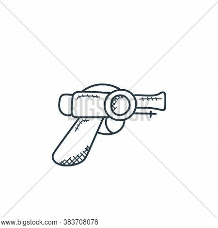 pistol icon isolated on white background from space and aircraft collection. pistol icon trendy and