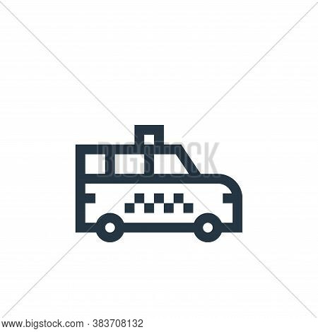 taxi van icon isolated on white background from taxi service collection. taxi van icon trendy and mo