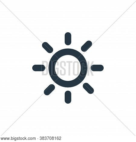 sun icon isolated on white background from basic ui collection. sun icon trendy and modern sun symbo