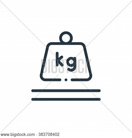 weight scale icon isolated on white background from fabric features collection. weight scale icon tr