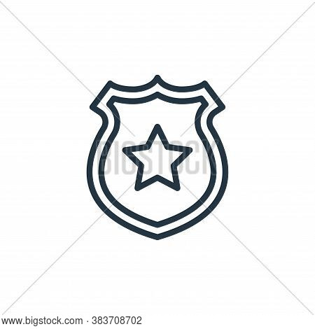police badge icon isolated on white background from crime collection. police badge icon trendy and m