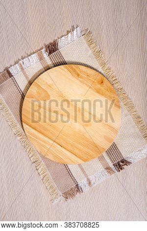 Empty Wooden Chopping Boards Topic View Mock Up. Flat Lay. Space For Copying Text, Copy Space. Rusti