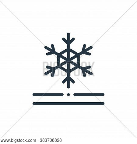 snow proof icon isolated on white background from fabric features collection. snow proof icon trendy