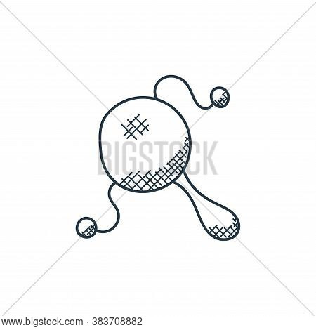 maracas icon isolated on white background from music collection. maracas icon trendy and modern mara