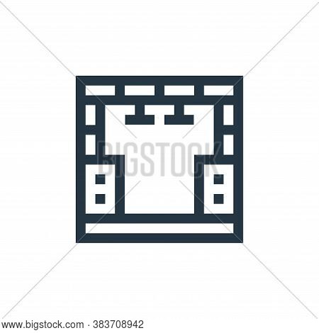 stage icon isolated on white background from music festival collection. stage icon trendy and modern