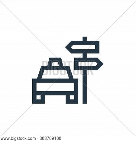 signpost icon isolated on white background from taxi service collection. signpost icon trendy and mo