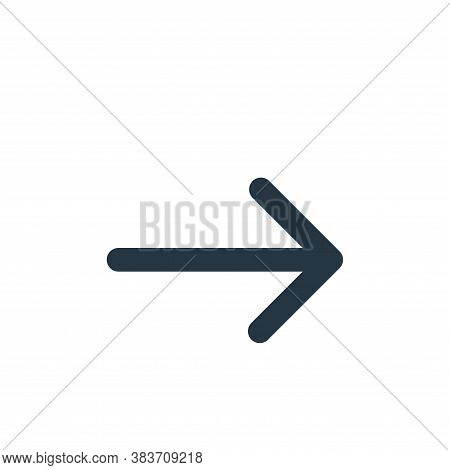 right arrow icon isolated on white background from arrows collection. right arrow icon trendy and mo