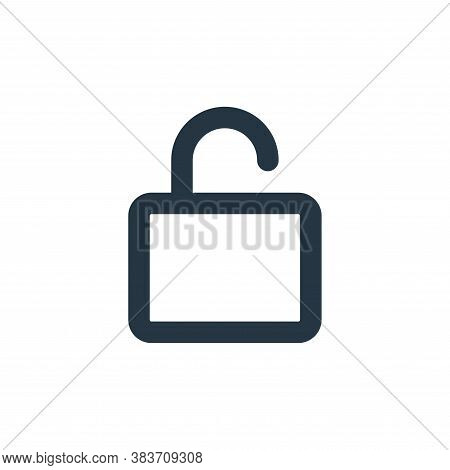lock icon isolated on white background from basic ui collection. lock icon trendy and modern lock sy