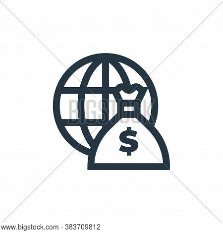 money bag icon isolated on white background from economy collection. money bag icon trendy and moder