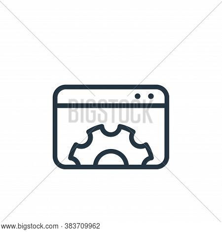 setting icon isolated on white background from seo collection. setting icon trendy and modern settin