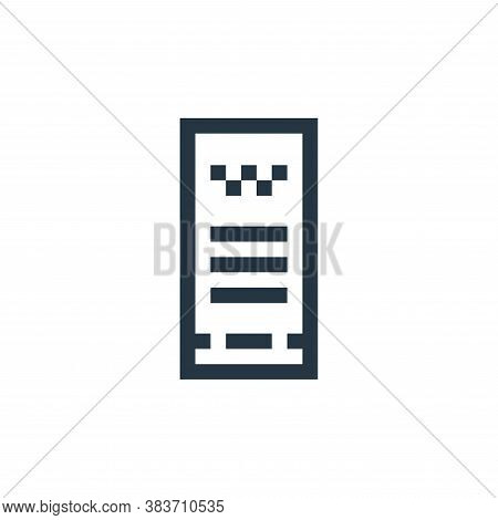 invoice icon isolated on white background from taxi service collection. invoice icon trendy and mode