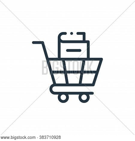 shopping cart icon isolated on white background from books collection. shopping cart icon trendy and