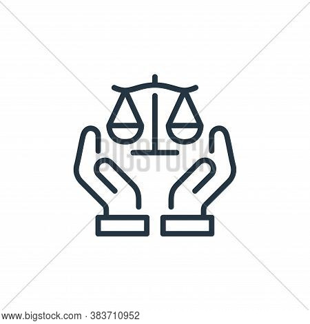 justice icon isolated on white background from law and justice collection. justice icon trendy and m