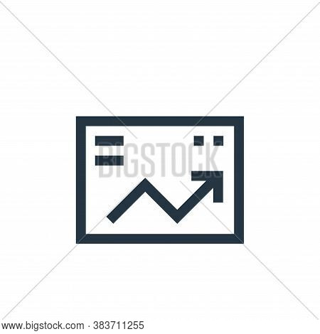 profit icon isolated on white background from economy collection. profit icon trendy and modern prof