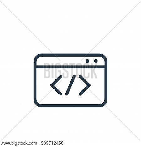 html icon isolated on white background from seo collection. html icon trendy and modern html symbol