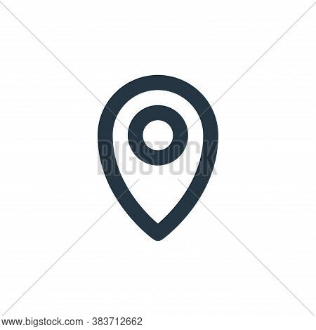 gps icon isolated on white background from basic ui collection. gps icon trendy and modern gps symbo