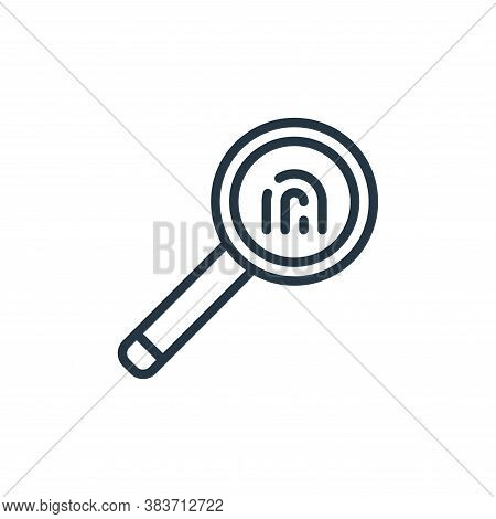 investigation icon isolated on white background from crime collection. investigation icon trendy and