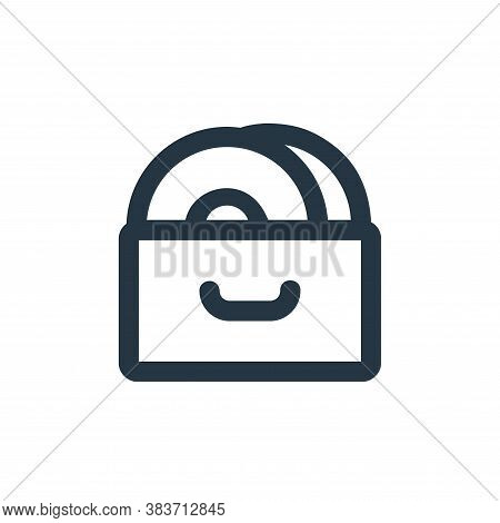 archive icon isolated on white background from disc tool line collection. archive icon trendy and mo