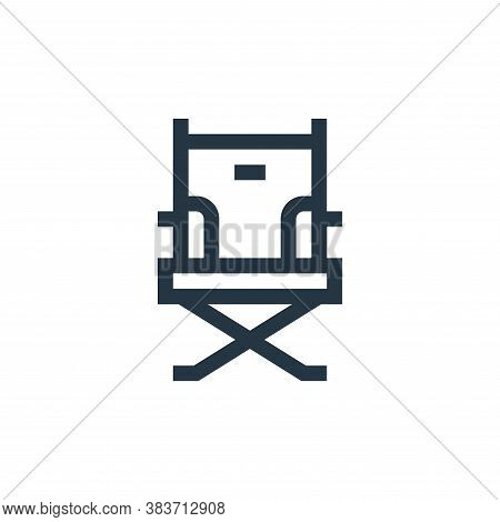 director chair icon isolated on white background from music festival collection. director chair icon