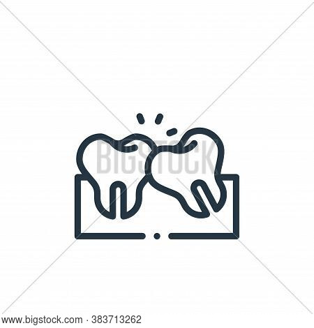 wisdom tooth icon isolated on white background from dentist collection. wisdom tooth icon trendy and