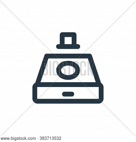 device icon isolated on white background from disc tool line collection. device icon trendy and mode