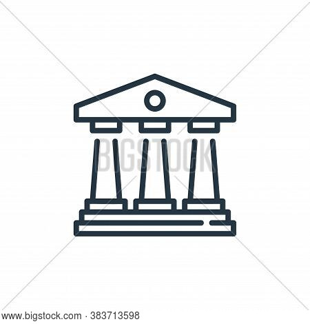 courthouse icon isolated on white background from law and justice collection. courthouse icon trendy