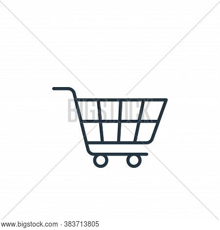 shopping trolley icon isolated on white background from e commerce collection. shopping trolley icon