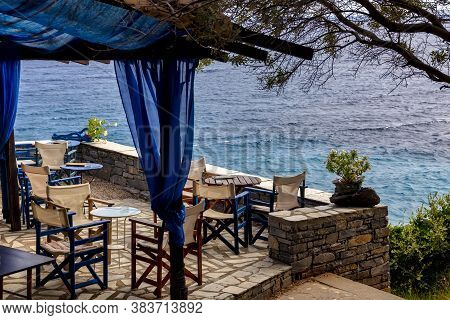 Traditional Greek Cafe In Pelion