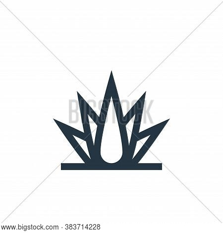 agave icon isolated on white background from cinco de mayo collection. agave icon trendy and modern