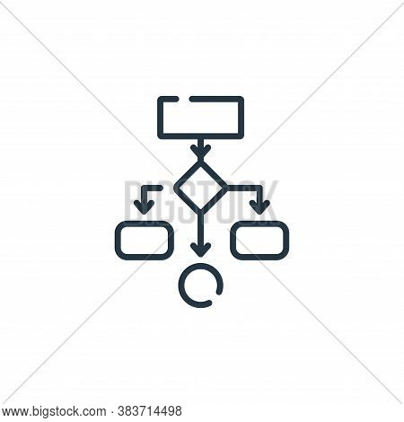 flow diagram icon isolated on white background from programming collection. flow diagram icon trendy