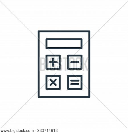 calculator icon isolated on white background from e commerce collection. calculator icon trendy and
