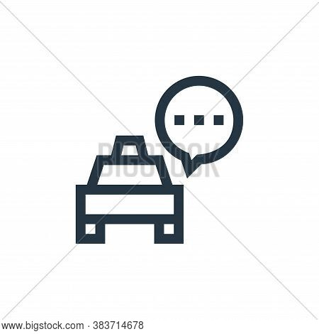 taxi icon isolated on white background from taxi service collection. taxi icon trendy and modern tax