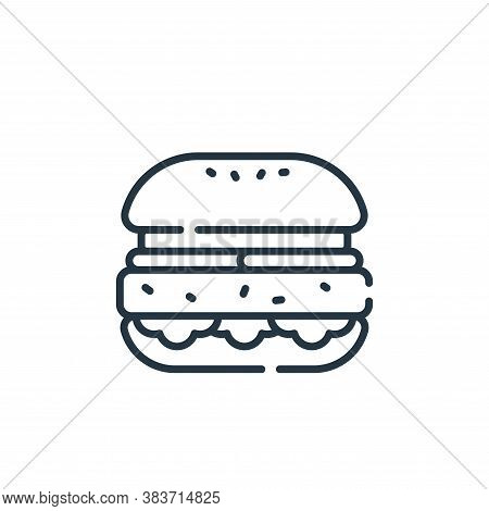hamburger icon isolated on white background from fast food collection. hamburger icon trendy and mod