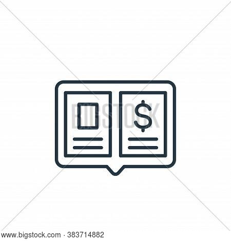 Ledger icon isolated on white background from finance collection. Ledger icon trendy and modern Ledg