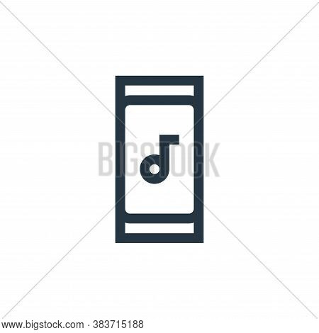 smartphone icon isolated on white background from music festival collection. smartphone icon trendy