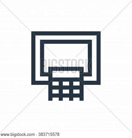basketball hoop icon isolated on white background from education collection. basketball hoop icon tr