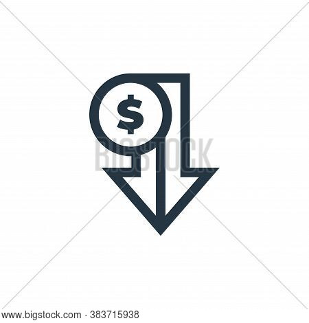 loss icon isolated on white background from economy collection. loss icon trendy and modern loss sym