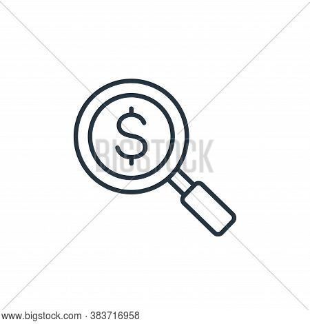 search icon isolated on white background from finance collection. search icon trendy and modern sear