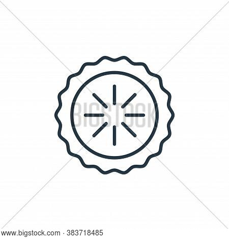 pie icon isolated on white background from bakery collection. pie icon trendy and modern pie symbol