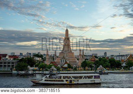 Wat Arun, Thailand - July 29, 2019: Wat Arun Temple Bangkok City Or Called Wat Ancient Temple. Each