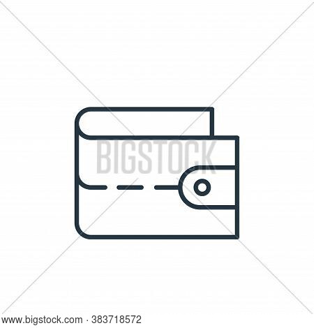 wallet icon isolated on white background from e commerce collection. wallet icon trendy and modern w
