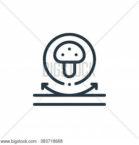 Fungi icon isolated on white background from fabric features collection. Fungi icon trendy and moder