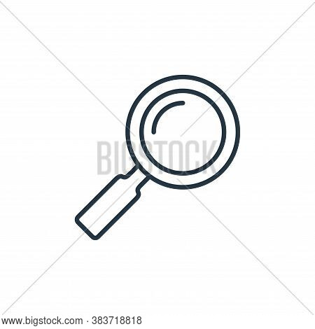 search icon isolated on white background from e commerce collection. search icon trendy and modern s