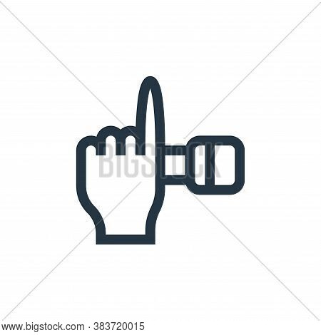 hand icon isolated on white background from music festival collection. hand icon trendy and modern h