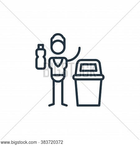plastic bin icon isolated on white background from climate change collection. plastic bin icon trend