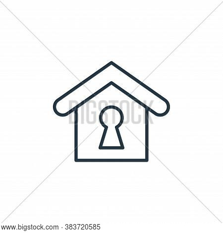 keyhole icon isolated on white background from smarthome collection. keyhole icon trendy and modern