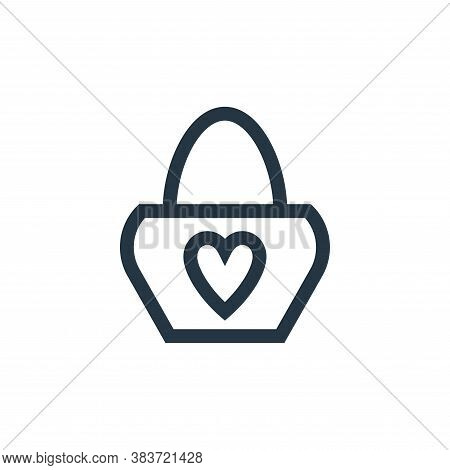 handbag icon isolated on white background from mothers day collection. handbag icon trendy and moder